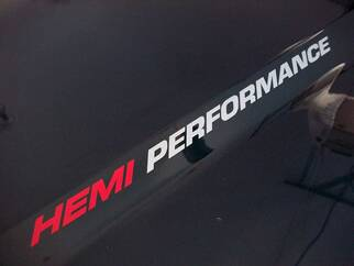 HEMI PERFORMANCE Hood decal Dodge Ram 1500 Truck Hood decals emblem 2015 5.7L V8 Hemi V8 1500 2500 2013 2012 2011 2010 - 2020