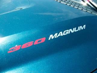 360 MAGNUM - AUFKLEBER Aufkleber Motorhaube Kotflügel Heckklappe Emblem Stil Logo Dodge Ram