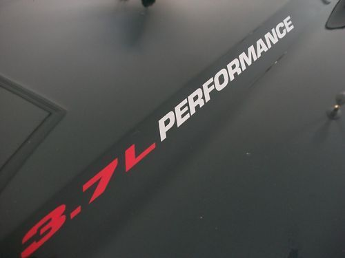 3.7L PERFORMANCE Hood decals Jeep Liberty 02 03 04 05 06 07 08 09 2010 2011 2012