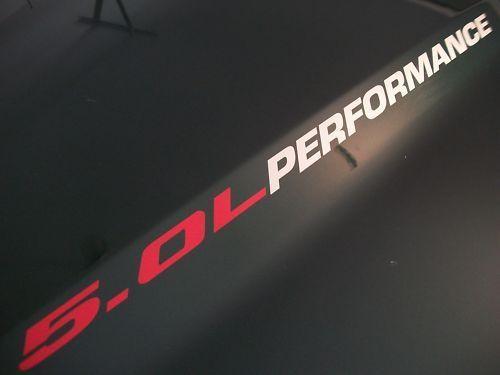 5.0L LEISTUNG Motorhaube Vinyl Aufkleber Emblem 302 V8 Ford Mustang GT F150 2011 2012