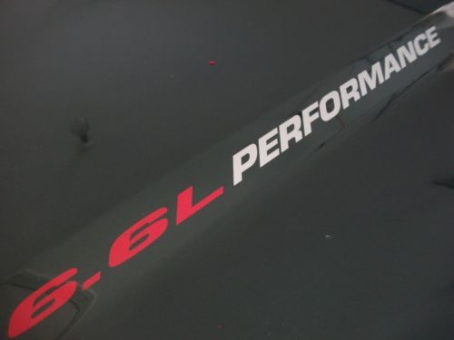 6.6L PERFORMANCE Hood decals Chevy Silverado 2500 3500 HD Duramax Turbo Diesel