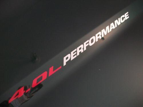 4.0L PERFORMANCE Hood Aufkleber Jeep Grand Cherokee 95 96 97 98 99 00 01 02 03 04