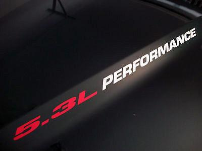 5.3L PERFORMANCE (Paar) Hood Aufkleber Aufkleber Emblem Chevy Silverado GMC Sierra
