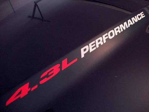 4.3L PERFORMANCE (pair) Hood decals emblem Chevy Silverado GMC Sierra 1500 2015