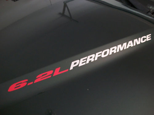 6.2L PERFORMANCE Hood vinyl decals 2010 2011 2012 Chevrolet Camaro SS RS LS3