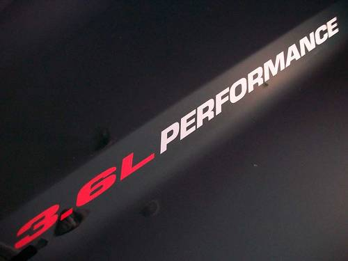 3.6L PERFORMANCE Hood decals 2013 Dodge Ram Truck V6 engine Chevy Camaro