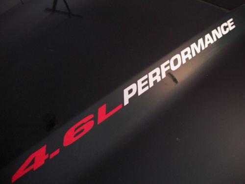 4,6 l LEISTUNG Motorhaube Aufkleber Aufkleber Ford Mustang F150 F250 Triton V8