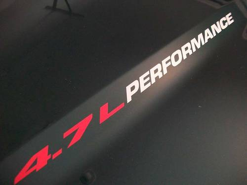 4.7L PERFORMANCE Hood powertech engine decals Dodge Dakota Durango Jeep Cherokee