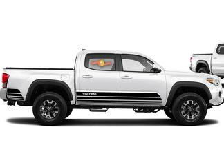Toyota TACOMA 2016 Retro lines style graphics side stripe decal