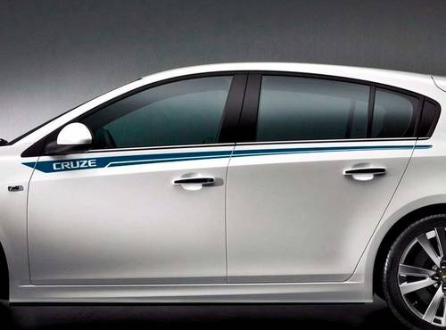 Chevrolet Cruze side pin stripes graphics decal door panel decal