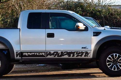 Ford F-150 Raptor 2008-2014 door panel graphics side stripe decal