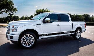 Ford F-150 2016 graphics side stripe decal model 5