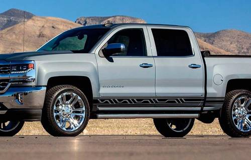 Chevrolet Silverado Z71 side stripes graphics decal door panel decal Ornaments