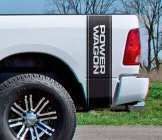 Dodge Ram 1500 Power Wagon Vertical Graphic decal stripe