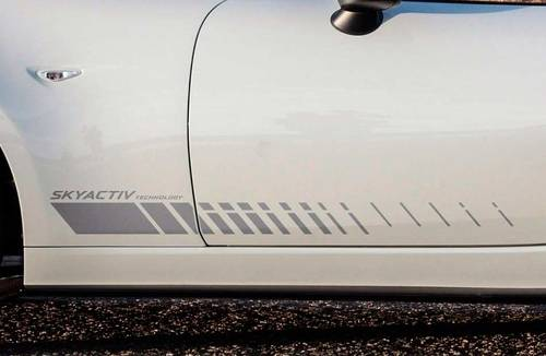Mazda MX5 Miata door panel side stripe graphics decal Skyactive