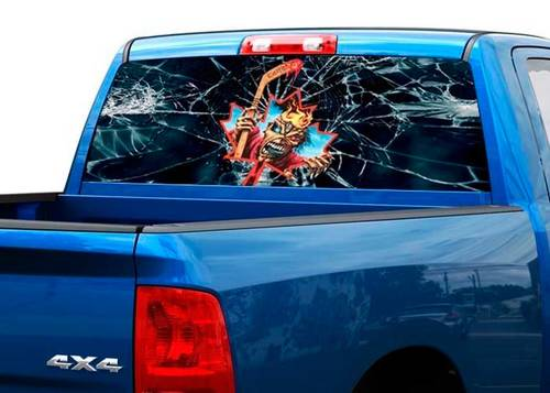 Iron Maiden Eddie Edward Rear Window Decal Sticker Pickup Truck SUV Car