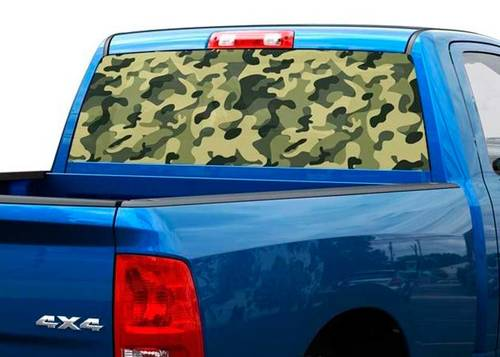 Camouflage Khaki Pink or Blue Rear Window Decal Sticker Pick-up Truck SUV Car