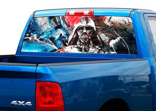 Darth vader art Rear Window Decal Sticker Pick-up Truck SUV Car