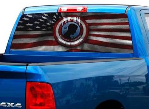 POW MIA nicht vergessen Heckscheibenverpackung Grafik Aufkleber Aufkleber LKW SUV Pick-up