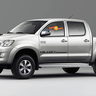 2PC hilux racing side stripe graphic Vinyl sticker for TOYOTA HILUX decals