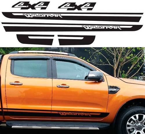 Gradient side stripe graphic Vinyl sticker for Ford ranger 2012 2013 2014sticker