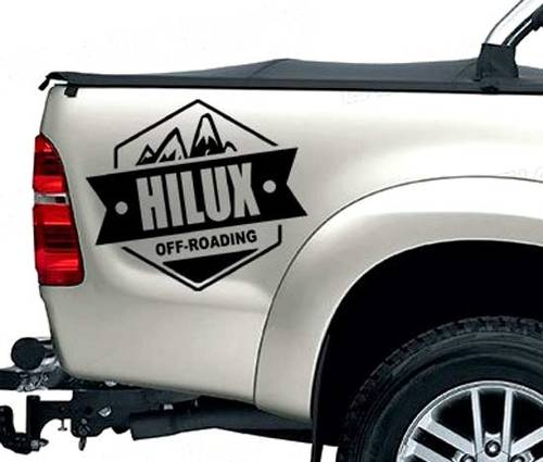 2 PC REAR STICKER hilux off road DECAL FOR TOYOTA HILUX decals badges detailing sticker