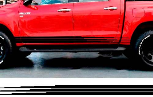 2 PC hilux side stripe graphic Vinyl sticker for TOYOTA HILUX decals