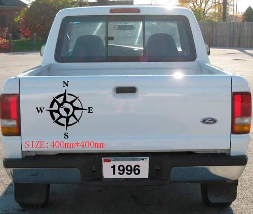 1PC Südamerika Rose Compass Aufkleber Aufkleber Vinyl Offroad 4x4 Chevy Revo Vigo Dmax Abenteuer Schlamm