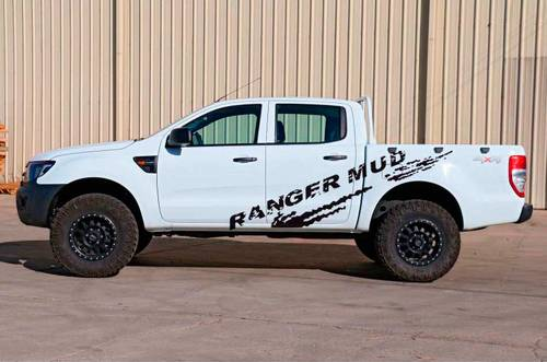 2 PC mudslinger body rear tail side graphic vinyl for Ford ranger decals