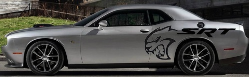TRIBAL Design Decals Graphics Vinyl CHALLENGER MOPAR SRT HELLCAT LOGO COMBO HEMI