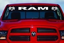 Dodge Ram Windshield decal w logos  44x4 ram, SRT8, hemi, SRT10, srt10