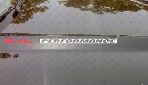 6.1L PERFORMANCE Hood Vinyl Decals Passend für: Jeep Dodge Hemi SRT8 Chrysler INV
