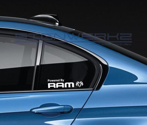 Powered By Ram Aufkleber Aufkleber Logo Emblem RAM SRT HEMI MOPAR Paar