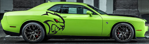 Largest Whole HELLCAT Tribal Decal Graphics Vinyl CHALLENGER MOPAR SRT LOGO HEMI CUSTOM DODGE 392 6.4