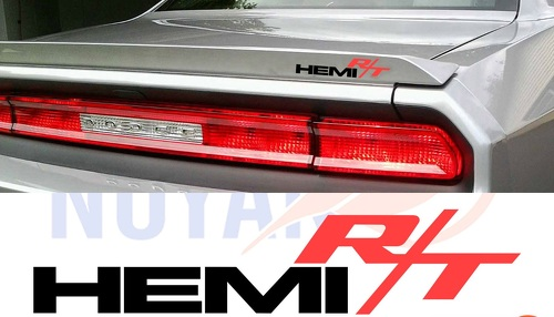 3X HEMI RT, CHALLENGER, EMBLEM, MOPAR, DECAL, VINYL CUT STICKER