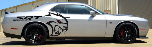 Largest Whole HELLCAT HEMI Tribal Decal Graphics Vinyl CHALLENGER MOPAR SRT LOGO CUSTOM DODGE 392 6.4