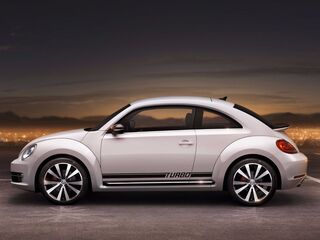 VOLKSWAGEN BEETLE 2012-2016 TURBO ROCKER STRIPE GRAPHICS DECALS