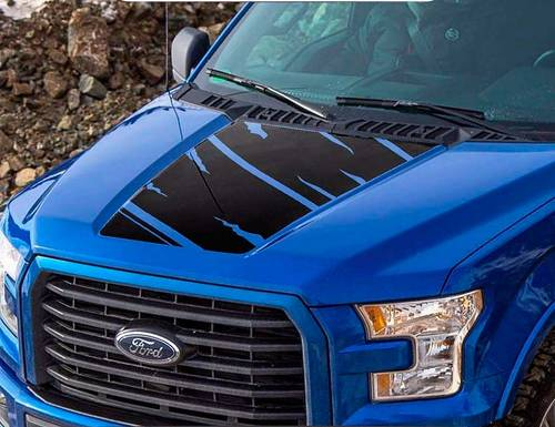 Ford F-150 2015-2016 F150 Predator hood graphics side stripe decal sticker