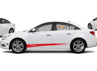 Chevrolet Cruze Racing side stripes graphics decal door line decal