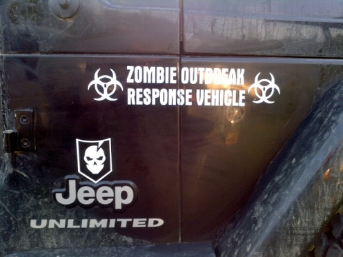 Jeep Rubicon Wrangler Zombie Outbreak Response Team Wrangler Decal kit#2