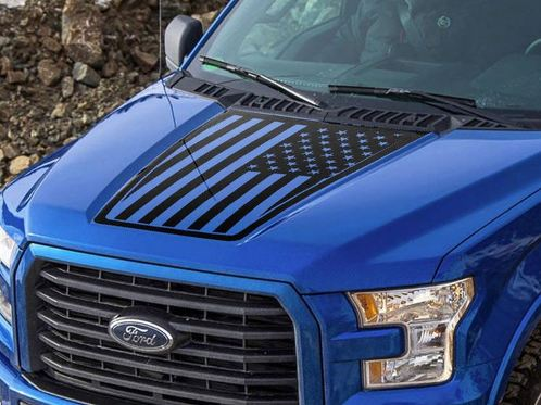 Ford F-150 2015-2016 USA Flag hood graphics side stripe decal sticker