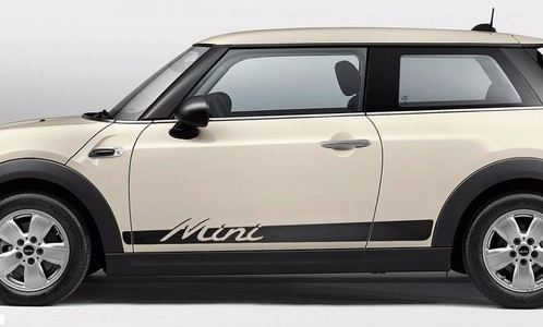 Mini Cooper S F56 2014-2016 - side stripes graphics Mini lettering porsche style