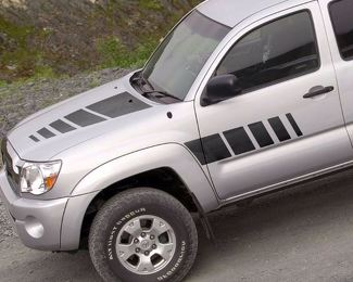 Toyota TACOMA 2005-2015 graphics side stripe decal model 2