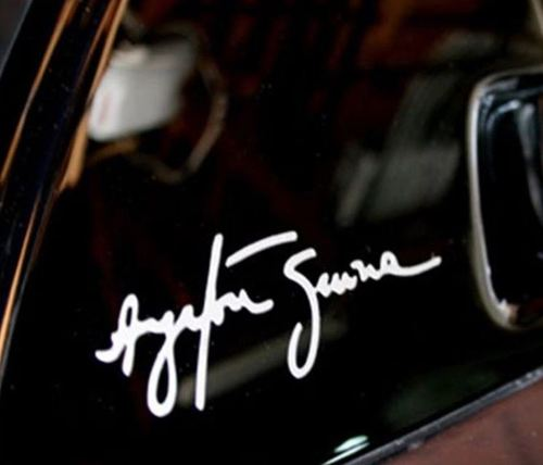 AYRTON SENNA SIGNATURE - Vinyl Dash Window Decal Graphic Sticker