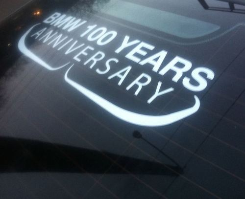 BMW Anniversary window sticker BMW MPower 100 Years Sticker decal