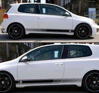 Aufkleber Aufkleber für Volkswagen VW Golf Stripes Grafik Türverkleidungssatz mk1-mk7 gti
