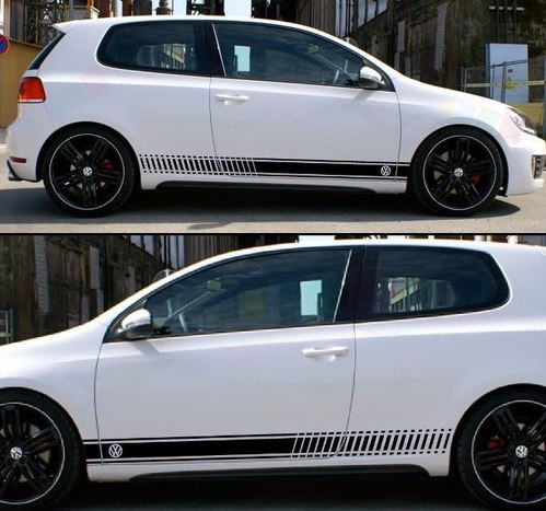 Stickers Decal for Volkswagen VW Golf Stripes Graphics Door Trim Kit mk1-mk7 gti