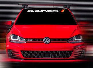 48 x4,5 Neue Volkswagen R GTI Dubaholics Weiß Custom Windschutzscheibe Aufkleber Aufkleber