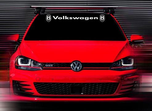48 x4.5 Neuer Volkswagen GTI Wolfsburg Weiß Custom Windschutzscheibe Aufkleber Aufkleber