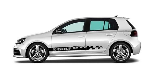 2X volkswagen GOLF GTI side skirt vinyl body decal sticker emblem logo